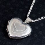 Silver Locket, Small Heart, personalised engraved ref. SSBHL